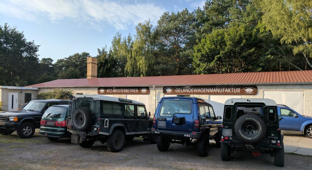 Hof der Werkstatt (Geländewagen Manufaktur)