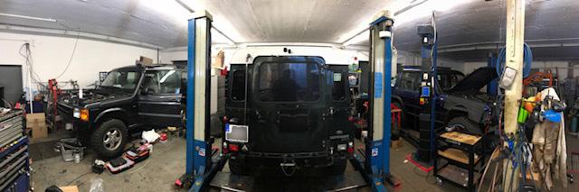 Werkstatt Geländewagen-Manufaktur Innenansicht (Michendorf)